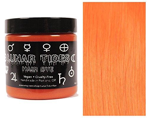 Lunar Tides Hair Dye   Solar Flare Orange Semi Permanent Vegan Hair Color  4 Fl Oz   118 Ml