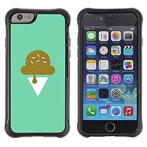 "Pulsar iFace Series Tpu silicona Carcasa Funda Case para Apple iPhone 6+ Plus(5.5 inches) , Helado trullo minimalista cocinero dulce"""