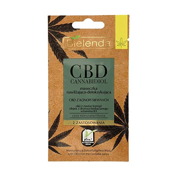 Bielenda Moisturising & Detoxifying Face Mask with CBD 8g
