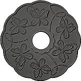 Ekena Millwork CM17TSSGS Terrones Butterfly Ceiling Medallion, Steel Gray