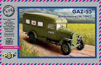PST PST 1/72 露・GAZ-55野戦救急車1943年型 PS72081 プラモデル