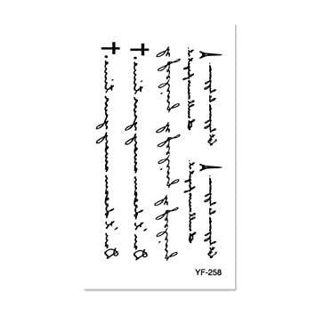 Etiqueta engomada del tatuaje impermeable Letra inglesa del color ...