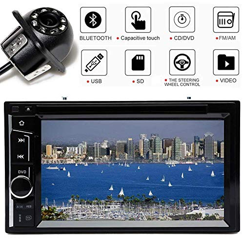 For Chevrolet Express 1500 2500 Silverado 1500 HD 2500 HD 3500 Double Din Stereo CD/DVD Player with Mirror Link, Bluetooth AM/FM Audio Video Funtions, 6.2 Inch High Sensitive Touch Screen Remote Contr