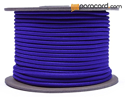 Acid Purple 1/8'' Shock Cord - BORED PARACORD Marine Grade Shock / Bungee / Stretch Cord 1/8 inch x 100 feet Several Colors - Made in USA by BoredParacord