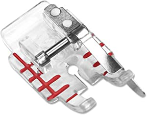 DREAMSTITCH Clear 1/4 inch Edge Join Presser Foot for All Low Shank Snap-On Brother,Babylock,Singer,Euro-Pro,Janome (New Home),Kenmore,White,Juki,Simplicity,Elna Sewing Machine