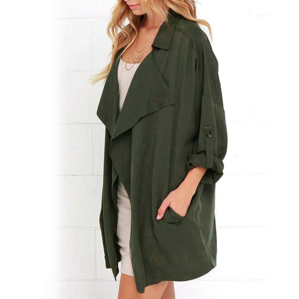 TOOPOOT Women's Cardigan,Ladies Open Front Long Sleeve Waterfall Collar Irregular Trench Coat by TOOPOOT-Coat (Image #3)