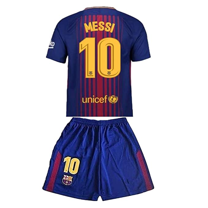 Amazon.com: GuoXinyin Messi #10 2017-2018 New FC Barcelona ...