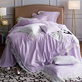 Beautiful feather french beauty princess wind60satin cotton-fiber water soluble lace embroidery double bed four-piece set-B King