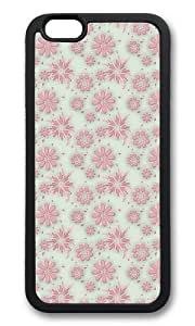 MOKSHOP Adorable Dreaming Flowers Soft Case Protective Shell Cell Phone Cover For Apple Iphone 6 (4.7 Inch) - TPU Black