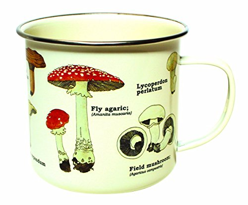 (Gift Republic GR270058 Mushroom Enamel Mug,)