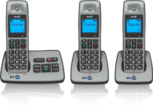 BT 2500 Cordless DECT Phone with Answer Machine (Pack of 3)