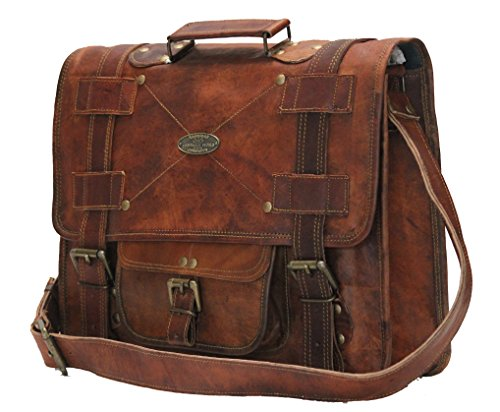 1ab74e3d2d9 Amazon.com  Handmade world Leather Messenger Bags for Men Women Mens  Briefcase Laptop Bag Best Computer Shoulder Satchel School Distressed Bag  (11