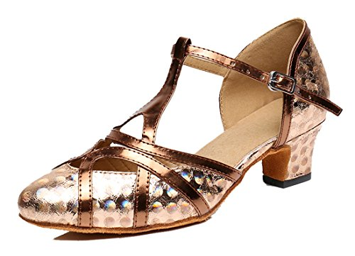 Zapatos de bailes latinos de cuero sintético lqMI79p