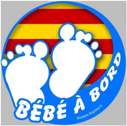 10 cm : bebe a bord catalan stickers Autocollants