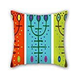 PILLO 18 x 18 inches / 45 by 45 cm color block cushion cases,twice sides is fit for relatives,drawing room,son,home,lounge,office