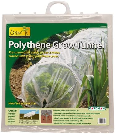 Gardman 7684 Polyethylene Grow Tunnel, 10 Long x 18 High
