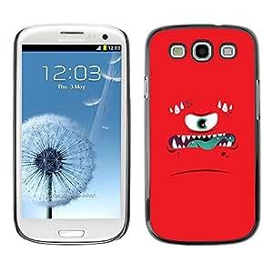 [Neutron-Star] Snap-on Series Teléfono Carcasa Funda Case Caso para Samsung Galaxy S3 [La ira Monstruo enojado Niños Niños]