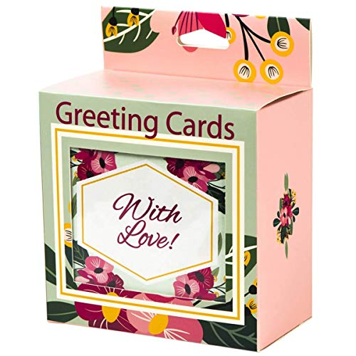 48 Greeting Cards - Assorted All Occasion Pack Premium Box Set Blank With Envelopes, Includes Birthday