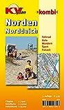 Norden / Norddeich: 1:15.000 Stadtplan und Freizeitkarte 1:25.000 mit Rad- und Wanderwegen, inkl. Cityplan 1:7.500 (KVplan Ostfriesland-Region / http://www.kv-plan.de/Ostfriesland.html)