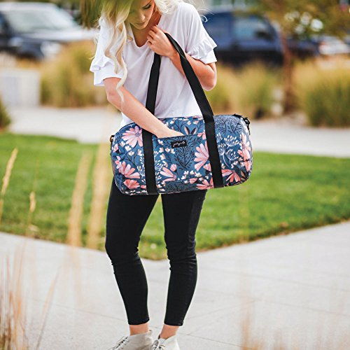 Jadyn B 19'' Barrel Women's Duffel Bag, Navy Floral by Jadyn B (Image #6)