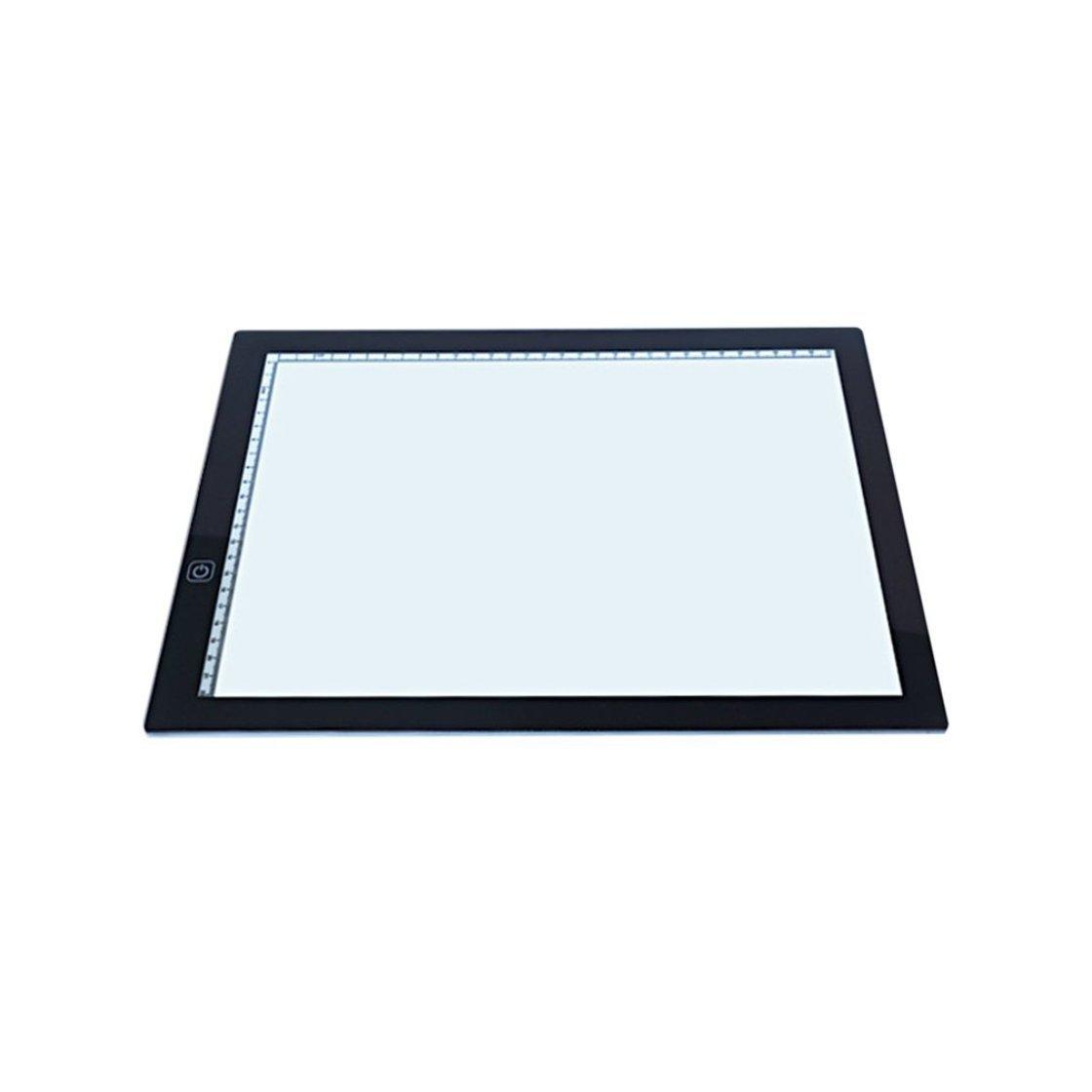 Portatile Ultra-sottile A3 LED Tracing light Touch Board Artist Disegno Drafting Tavoletta grafica Animazione Disegno Copy Board BlackPJenny