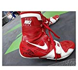 Autographed Pacquiao Photo - & Worn by Nike Boots Bradley 3 Training - Autographed Boxing Photos