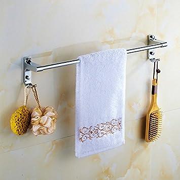 Acero inoxidable barra para toallas colgador de toallas baño de una barra toallero baño enganchado colgante de pared colgante 30cm: Amazon.es: Bricolaje y ...