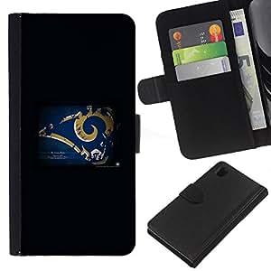 ST Louis Ram NFL - la tarjeta de Crédito Slots PU Funda de cuero Monedero caso cubierta de piel Para Sony Xperia Z1 L39