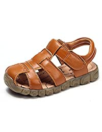 Kencey Leather Outdoor Sport Sandals for Boys Girls (Toddler/Little Kid)