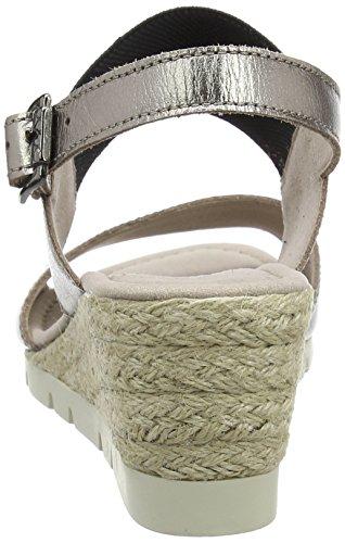 Gabor Shoes Comfort, Sandalias con Cuña para Mujer Marrón (mutaro Jute)