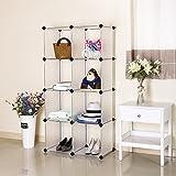 SONGMICS Storage Cube Closet Organizer Shelf 9-cube Cabinet Bookcase White ULPC33W