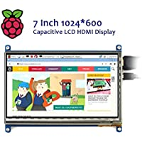 Geekworm Raspberry Pi 3 7 inch HDMI 1024x600 Capacitive LCD Display IPS Screen Monitor For Raspberry Pi 3 B/ 2B/ B+/ Pcduino Banana Pi