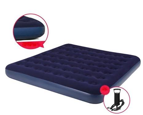 C&QI Cama inflable flocada Doble colchón de aire Engrosamiento creciente Colchones de aire Cama de la