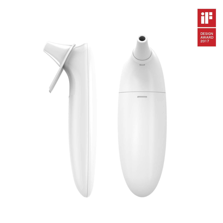 Term/ómetro digital infrarrojo con aplicaci/ón gratuita blanco para beb/é iSO/&Android Earmo Ear Thermometer ni/ños y adultos de lectura en 1 segundo