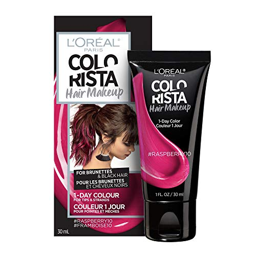 (L'oreal Paris Hair Color Colorista Makeup 1-day for Brunettes, Raspberry 10, 1 Fluid Ounce)