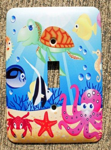 Ocean Wonders Sea Life Single Toggle Wall Plate Cover