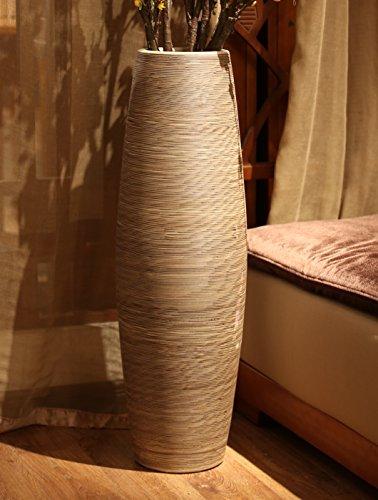 Tall Vine (D'vine Dev | Handmade Quality Kaolin Porcelain Ceramic Tall Floor Vase | Height 22.8'' | Home Décor Living Room Decorative Floor Vase)