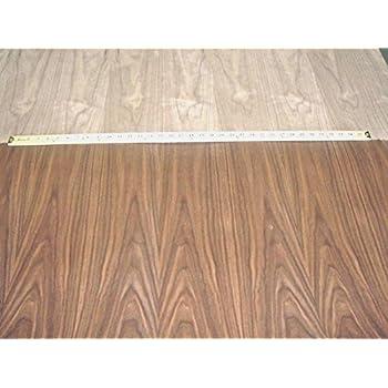 walnut wood veneer qtr cut run slip match 2x8 10 mil sheet
