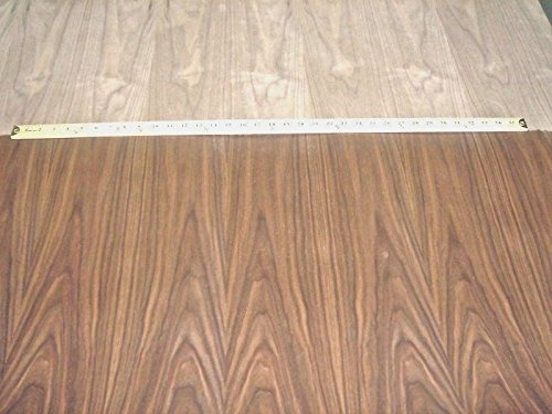 Walnut wood veneer 24''x 48'' on paper backer (2' x 4' x 1/40'')''A'' grade quality by JSO Wood Products