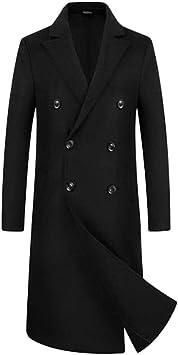 手縫いジャケットメンズ両面オーバーコートロングダブルブレストウールウィンターコート