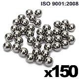 "1/4"" Inch (0.25"") Precision Chrome Steel Bearing Balls G25 (150 PCS)"