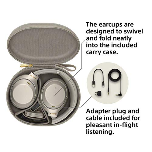 SONY WH-1000XM3 Wireless Noise canceling Stereo Headset(International Version/Seller Warrant) (Silver) by Sony (Image #3)