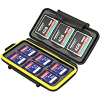 JJC MC-SD6CF3 Rugged Water-Resistant Memory Card Case...