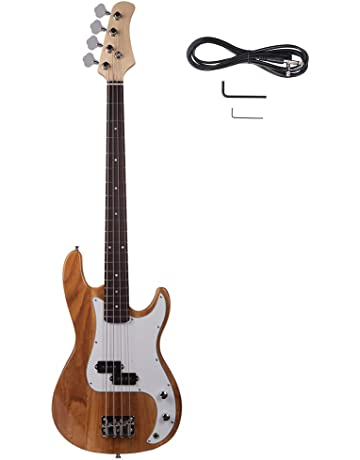 a0f29491084 Yoshioe Electric Bass Guitar Full Size 4 String Rosewood Basswood Fire  Style Exquisite Burning Bass (