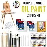 U.S. Art Supply 63 Piece Oil Artist Painting Kit