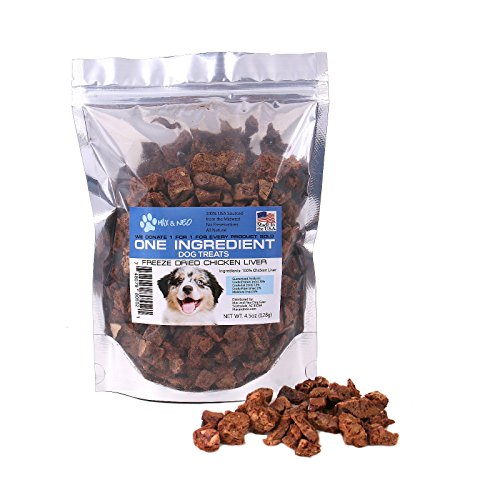 - Max and Neo One Ingredient Freeze Dried Chicken Liver Dog Treats - We Donate One for One to Dog Rescues for Every Product Sold