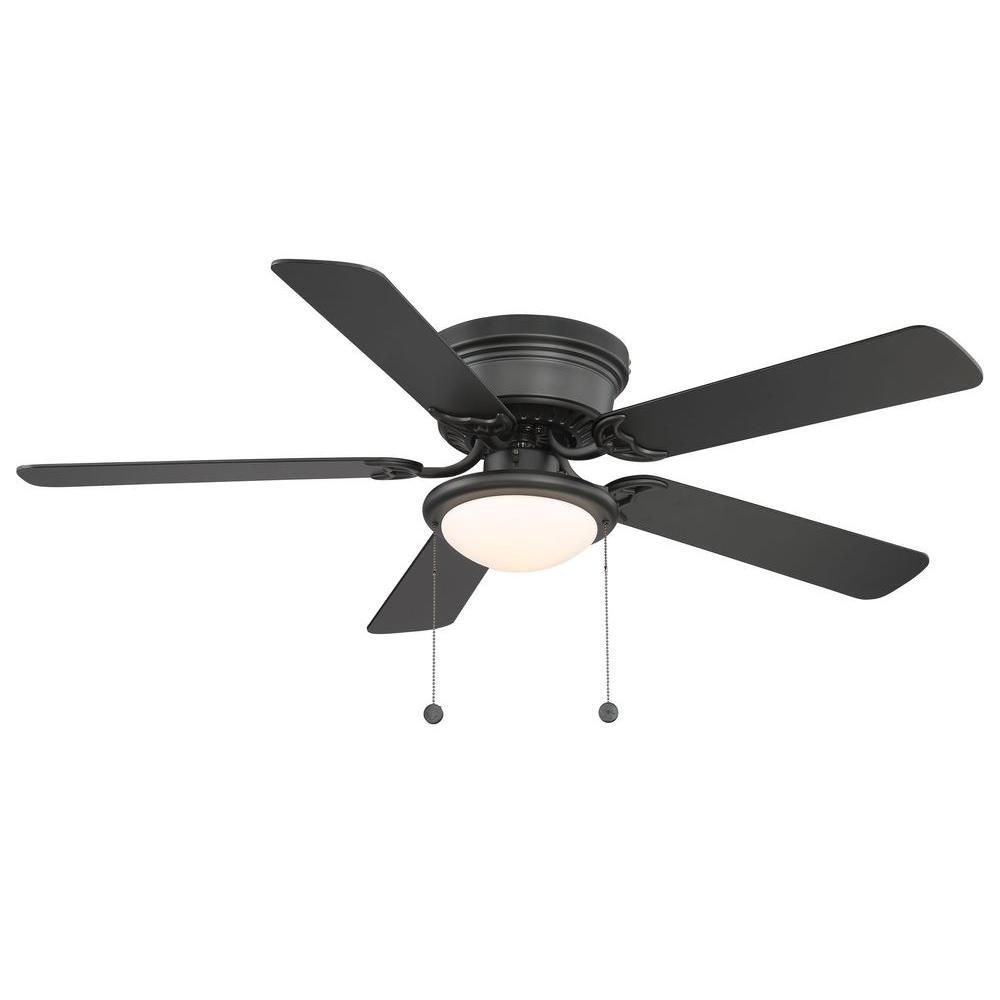 Hampton bay hugger 52 in black ceiling fan with light amazon aloadofball Choice Image
