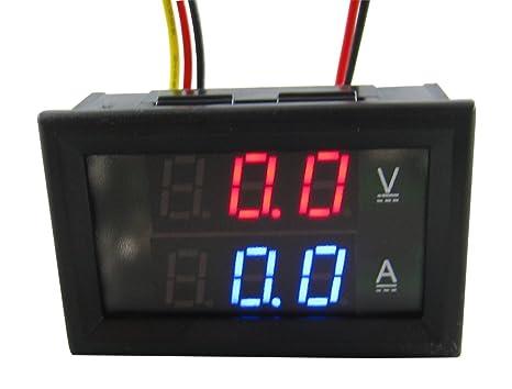 Schema Elettrico Voltmetro Per Auto : Yeeco dc0 300v 200a digitale dc voltaggio attuale tester voltometro