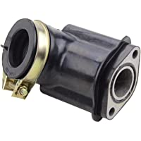 perfk 90 Degree Bent Intake Manifold Pipe for Moped//Scooter//SUNL//Baotian//Znen//Jmstar GY6 50cc
