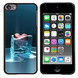 Heart Of Glass Frozen Heartbreak helada- Metal de aluminio y de plástico duro Caja del teléfono - Negro - iPod Touch 6